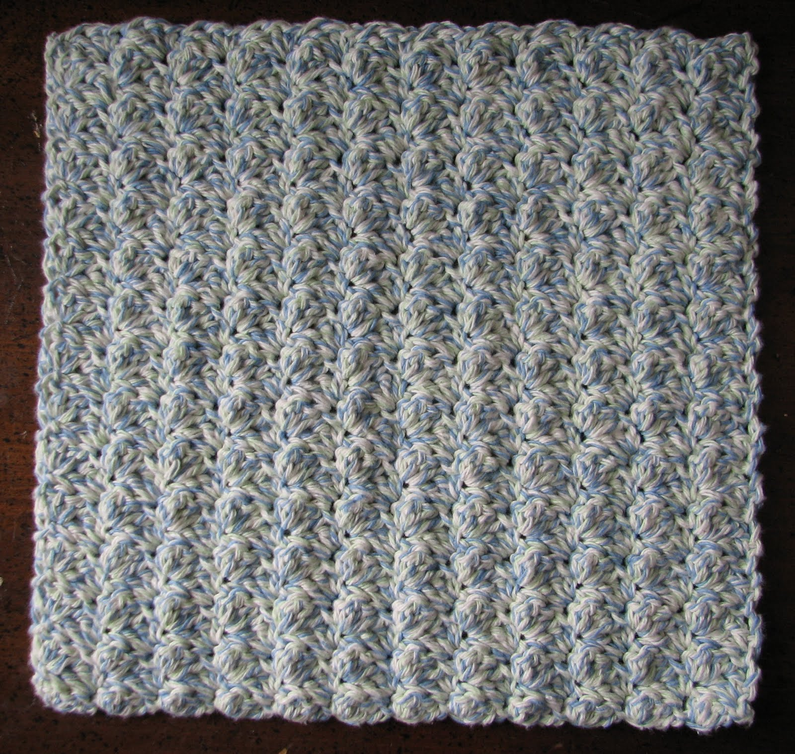 Country Ripple Stitch Dishcloth - free crochet pattern by Ambassador Crochet