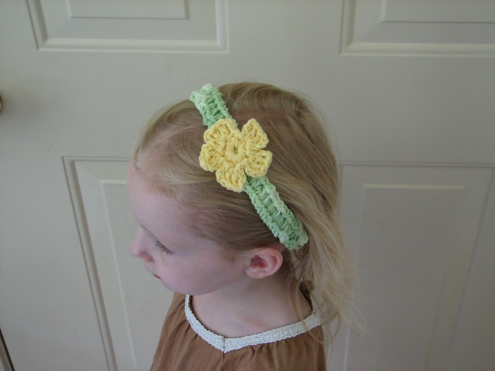 Free Crochet Pattern Flowers Headbands : Flower Headband - Free Crochet Pattern - Ambassador ...