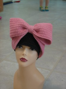 >Crocheted Bows