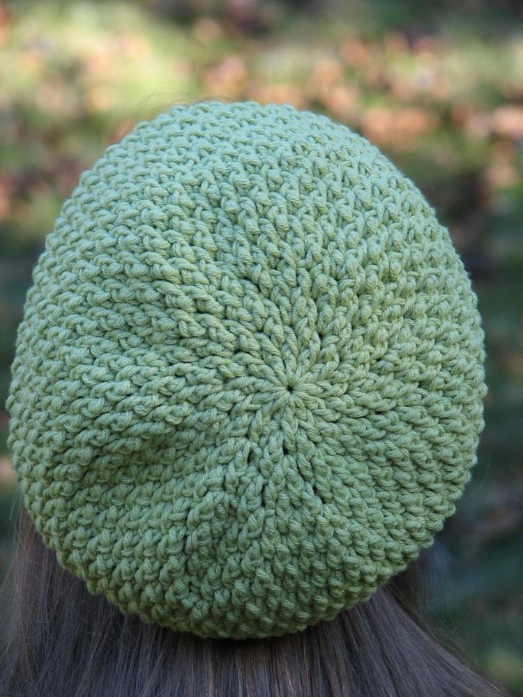Textured Slouchy Beret pattern by Ambassador Crochet.