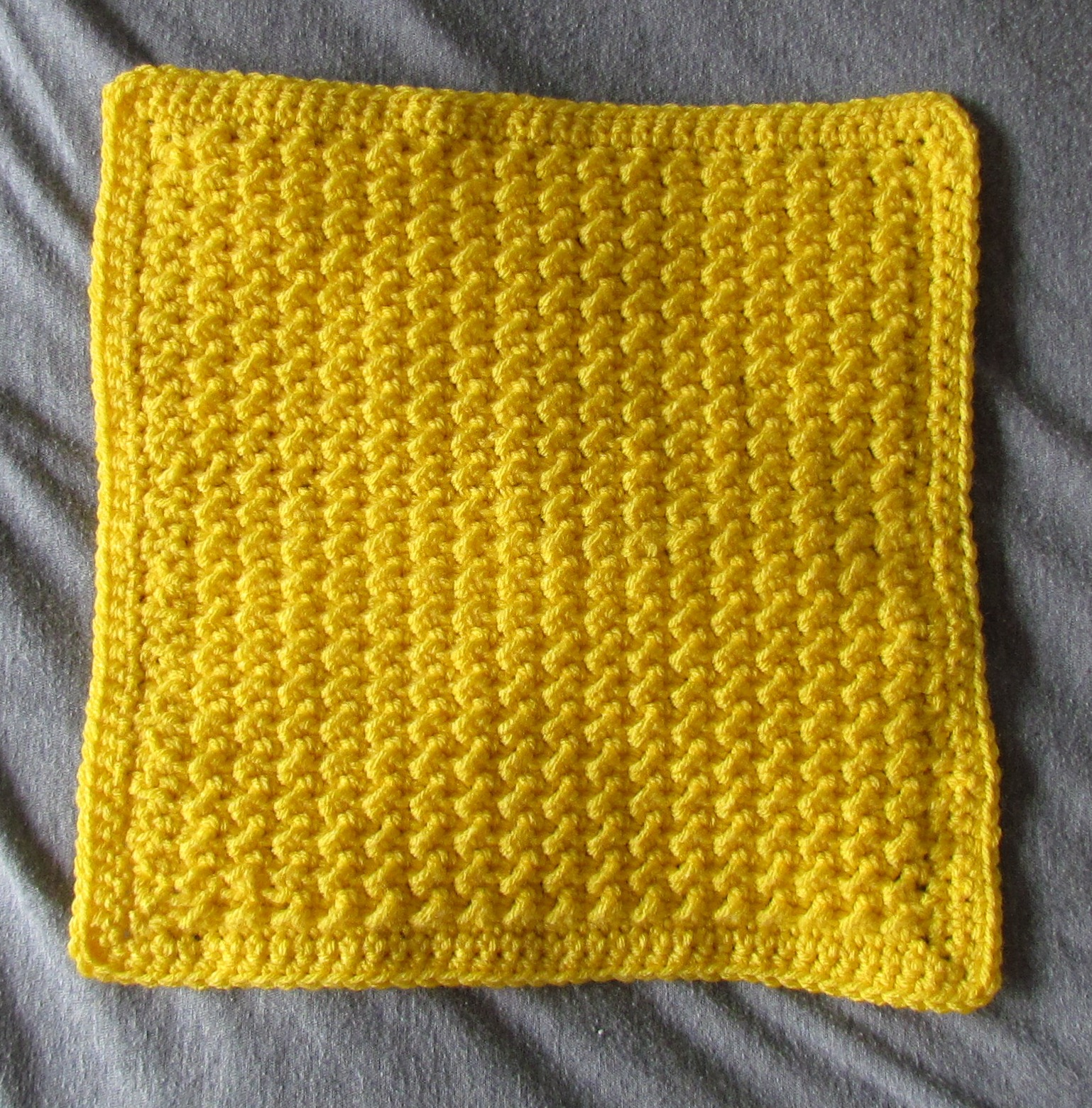 Crochet: Use pattern for large afghan to make baby afghan, size