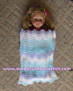 Crocheting In A Sentence : CROCHET DOLL BLANKET PATTERN Crochet Patterns