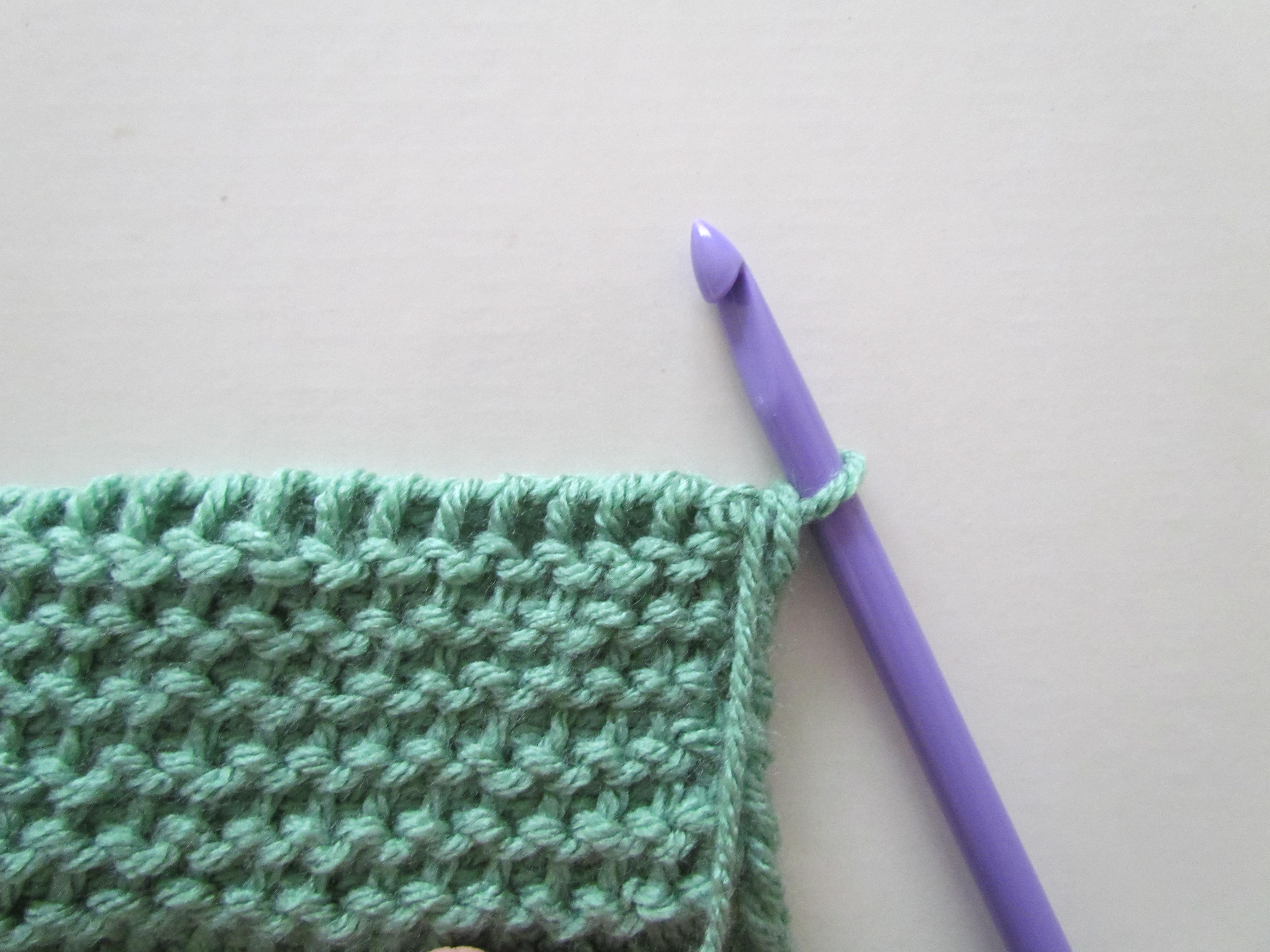 Yo Between Knit And Purl Stitch : Tunisian Purl Stitch - TPS - Ambassador Crochet Ambassador Crochet