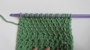 Slanted Fabric Tunisian Stitch