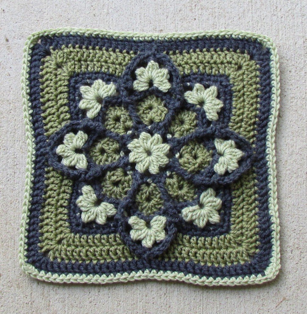 Stained Glass Afghan Square