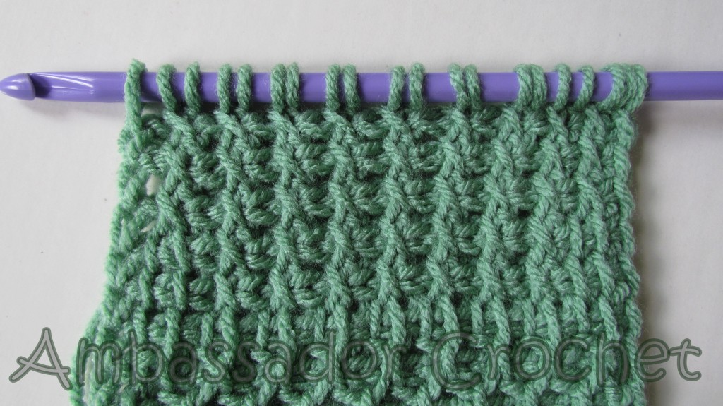 Tunisian Lattice Stitch