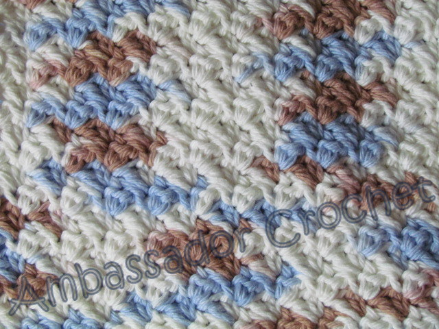 Crochet Stitches Grit : Grit Stitch Dishcloth Pattern - Crocheted Grit Stitch Dishcloth ...