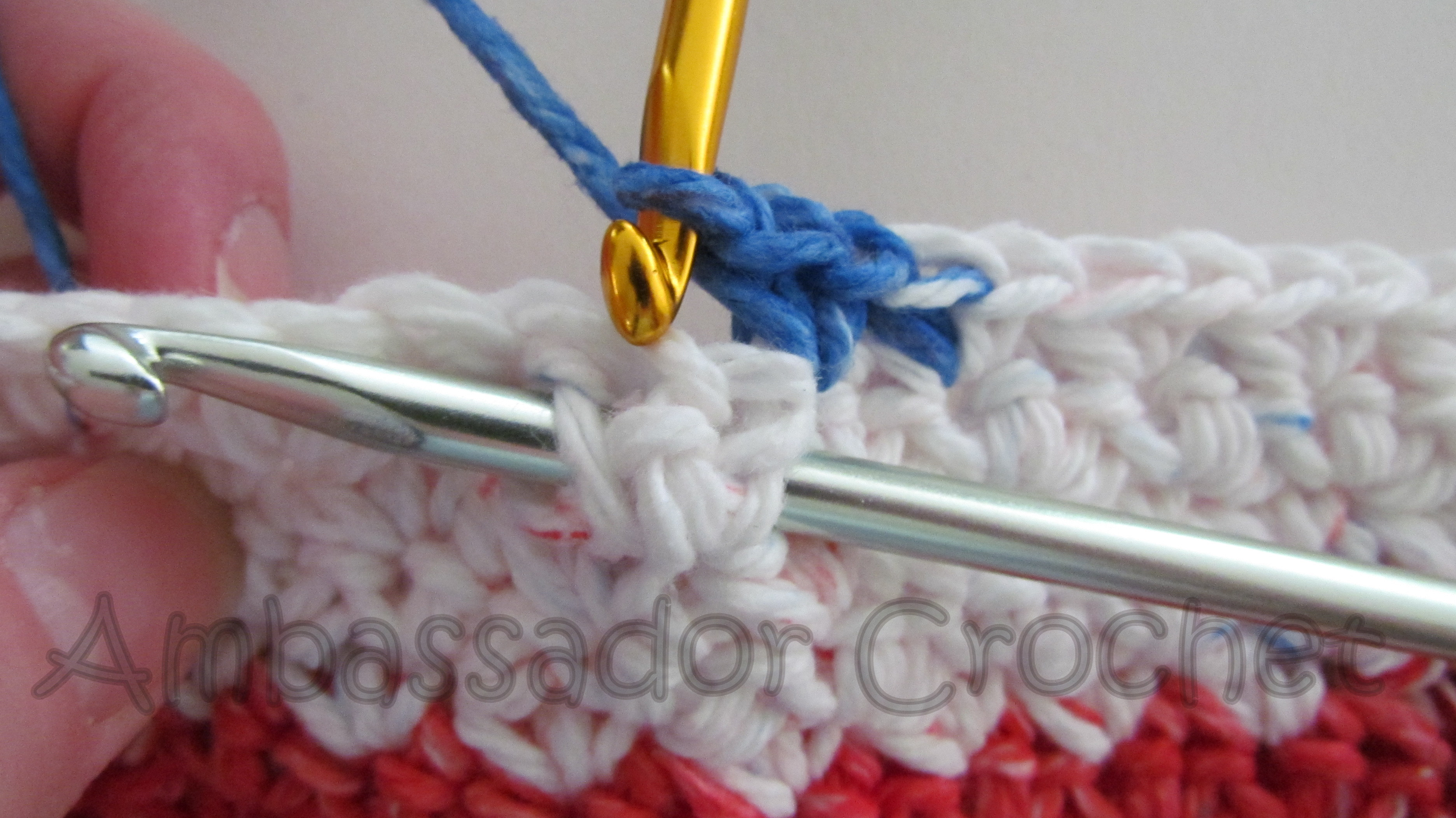 Crochet Stitches Grit : Crochet Grit Stitch Tutorial - Version 1 - Ambassador Crochet ...