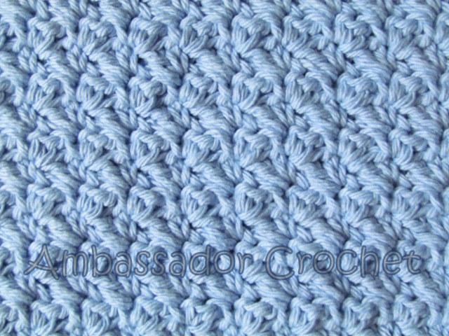 Grit Stitch Crochet Pattern - Crocheted Grit Stitch Dishcloth Version 2 - free dishcloth pattern by Ambassador Crochet