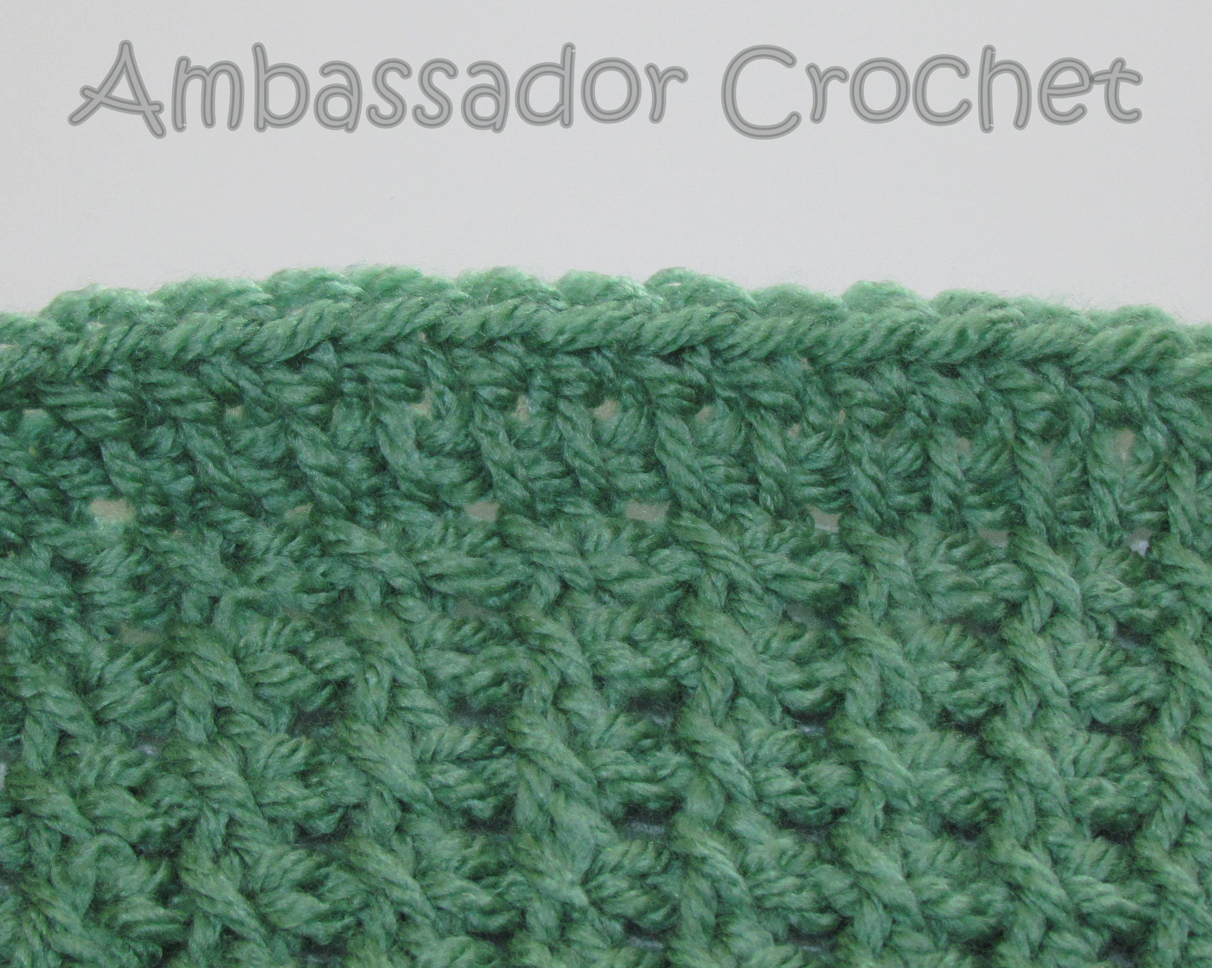 Tunisian Sampler Scarf CAL - Finishing Row - Ambassador Crochet Ambassador ...