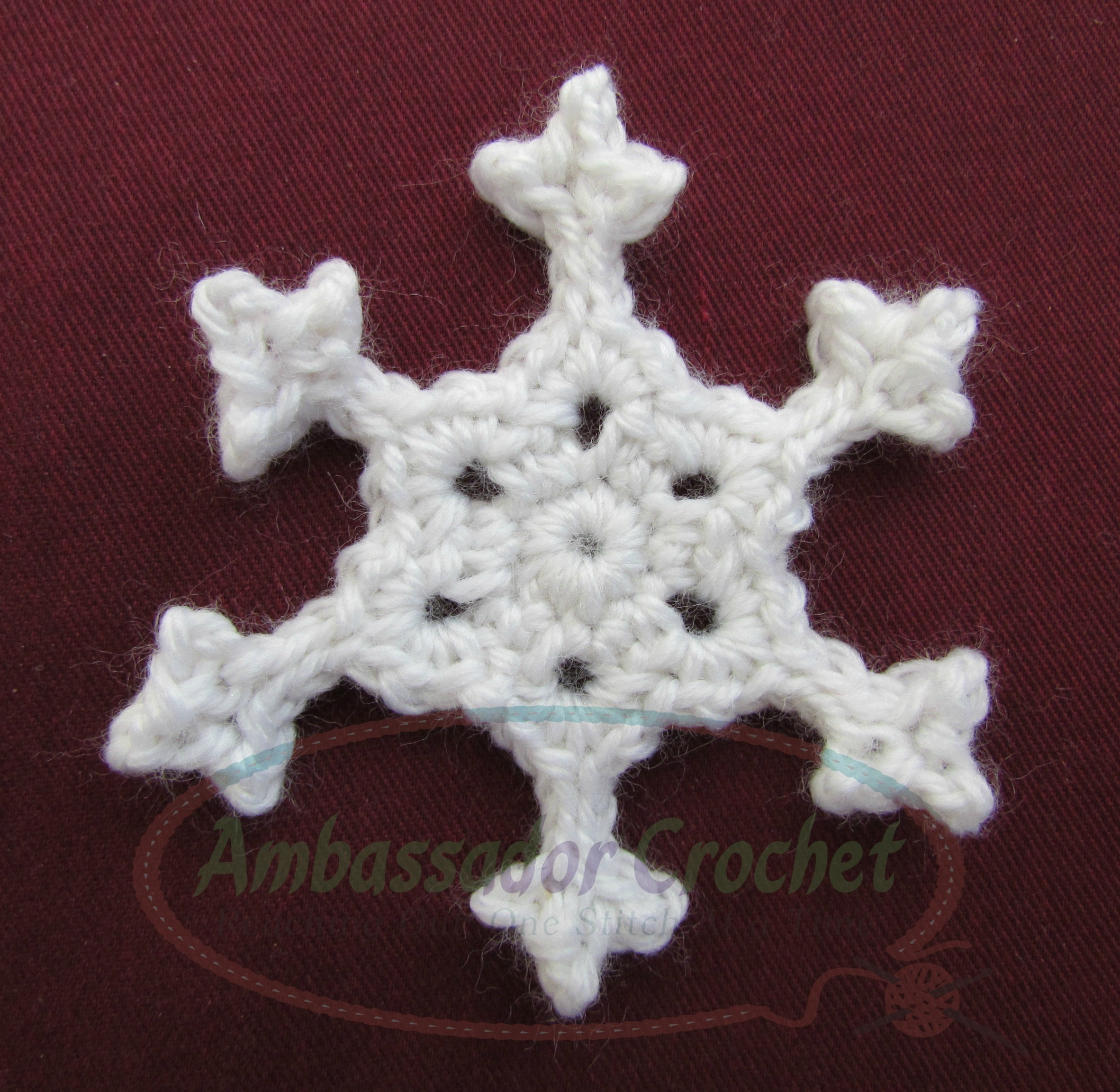 Crochet Snowflake Patterns Free Easy : Crocheted Snowflake Pattern - Ambassador Crochet ...