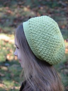 Textured Slouchy Beret crochet pattern by Ambassador Crochet