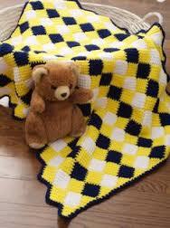 Tunisian Crochet for Baby Harlequin