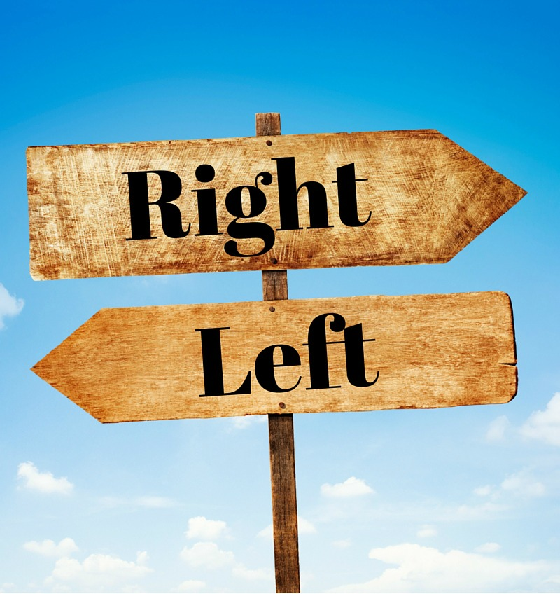 Choosing Your Direction - You can't go both right and left. When faced with a decision for your business, don't be tempted to try to go both ways. Make your choice and stick with it. Forget what you left behind.