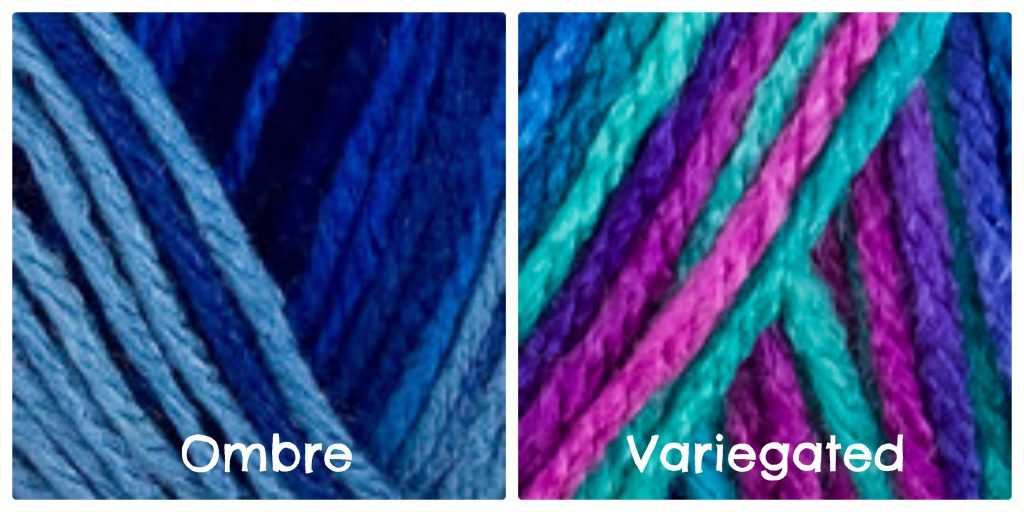 Ombre vs Variegated - Red Heart With Love Yarns