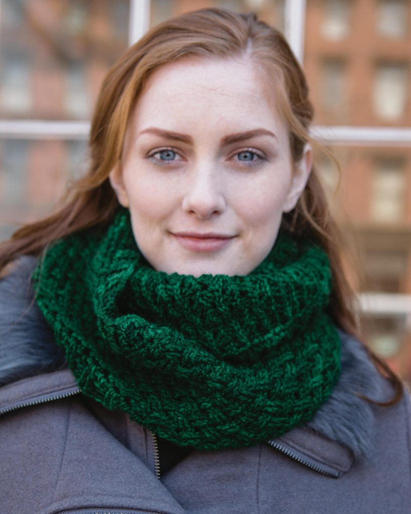 Emerald Celtic Weave Infinity Scarf - Cable Crochet book review by Ambassador Crochet