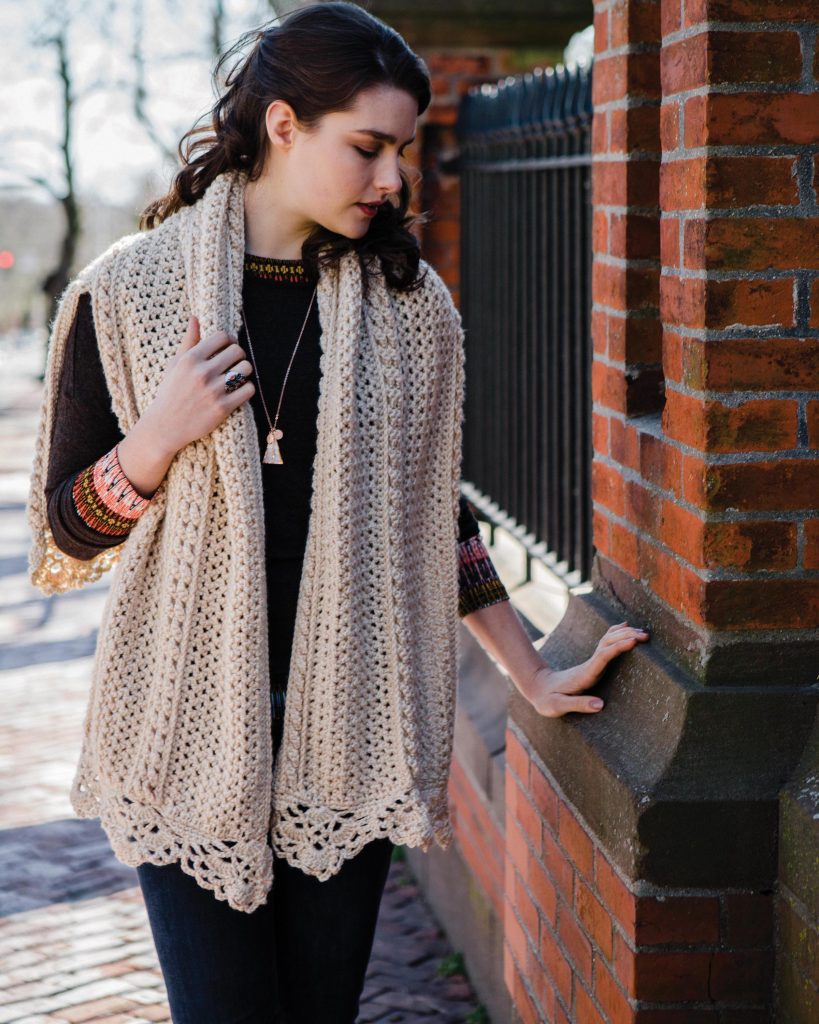 Aranmore Sweater Wrap - Cable Crochet book review by Ambassador Crochet