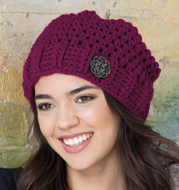 Cobblestones hat - Urban Slouch book review bu Ambassador Crochet