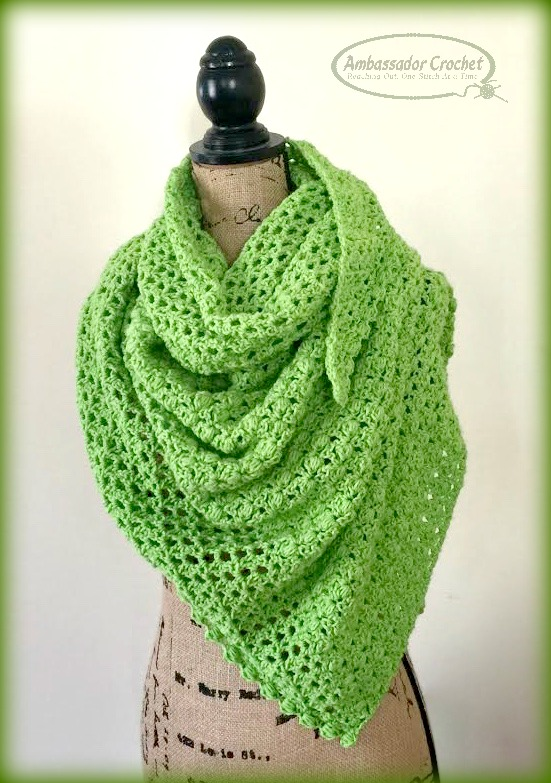 Cloria Wrap crochet pattern by Ambassador Crochet - $3.50