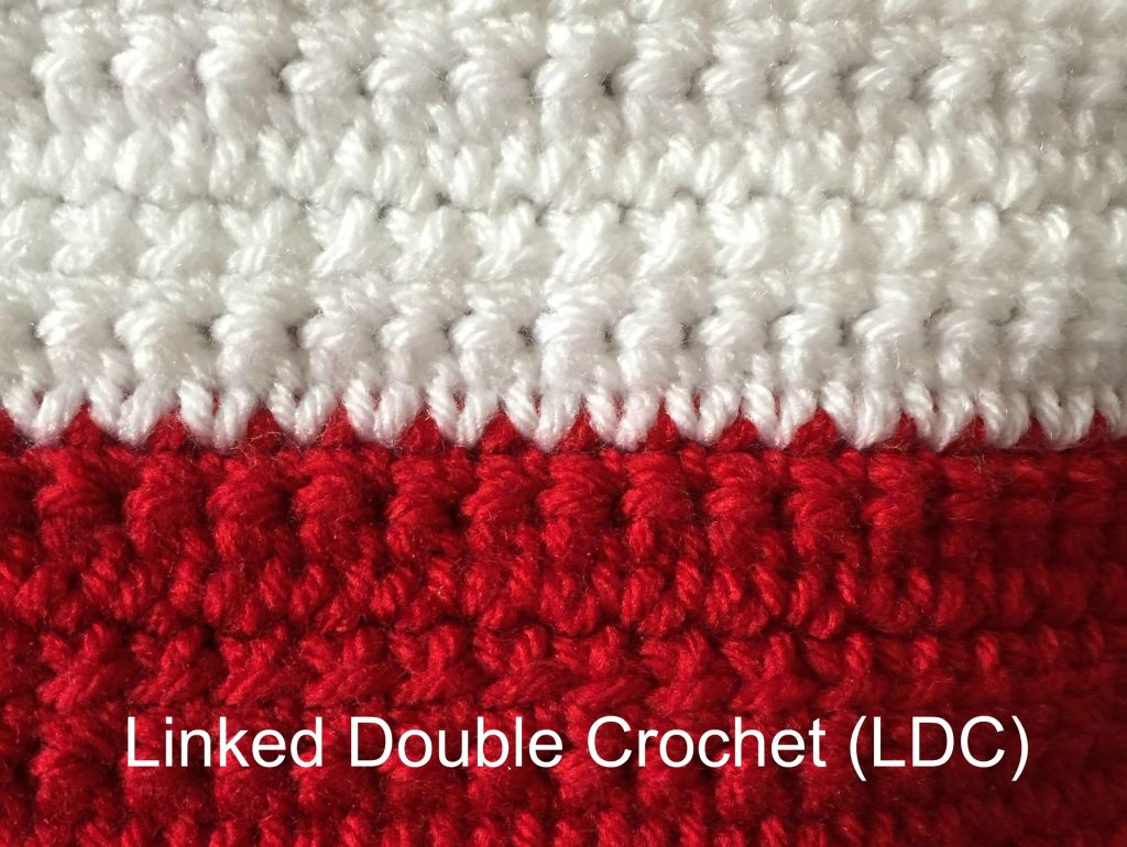 Linked Double Crochet (LDC) tutorial by Ambassador Crochet.