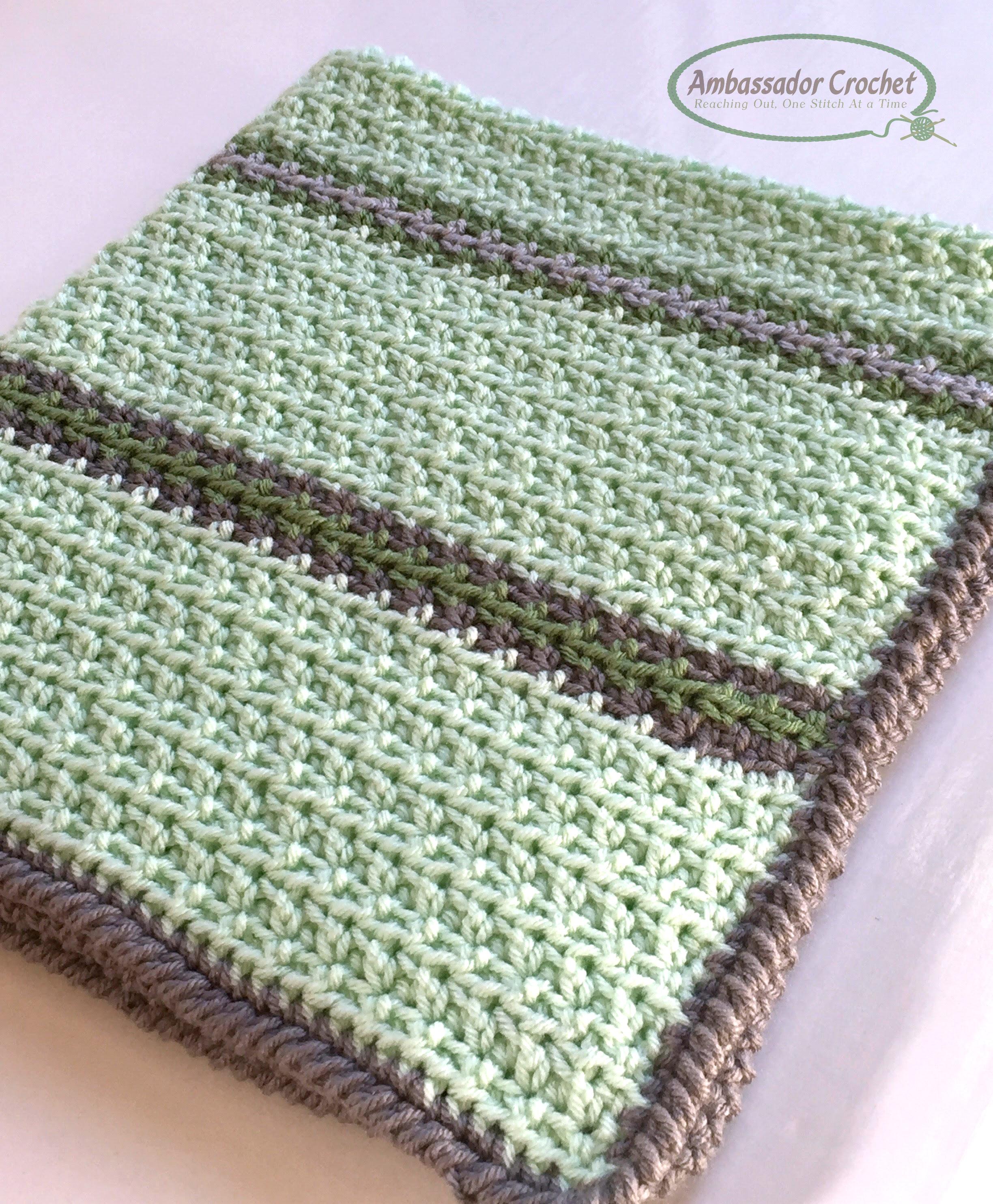 Soft Squishy Baby Blanket Crochet Pattern Ambassador Crochet