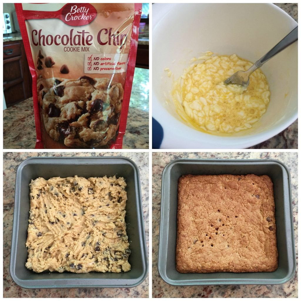 Easy 4 Step Cookie Bars Recipe by Ambassador Crochet.