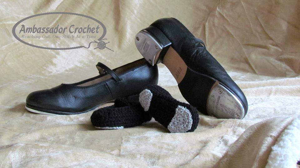 Baby Tap Shoes crochet pattern by Ambassador Crochet - $3.50