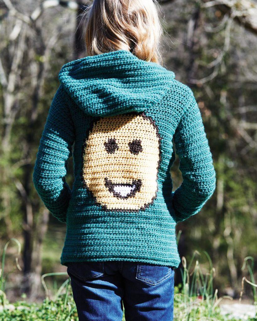 Hoodie from Emoji Crochet - book review by Ambassador Crochet.