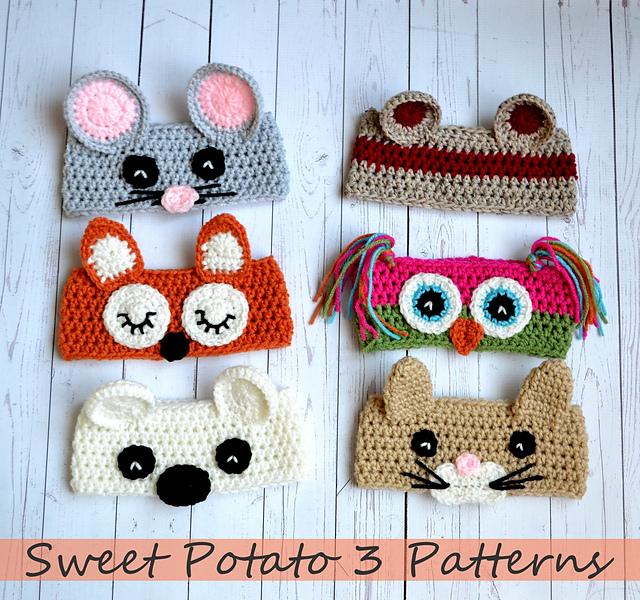 Animal Ear Warmers by Sweet Potato 3