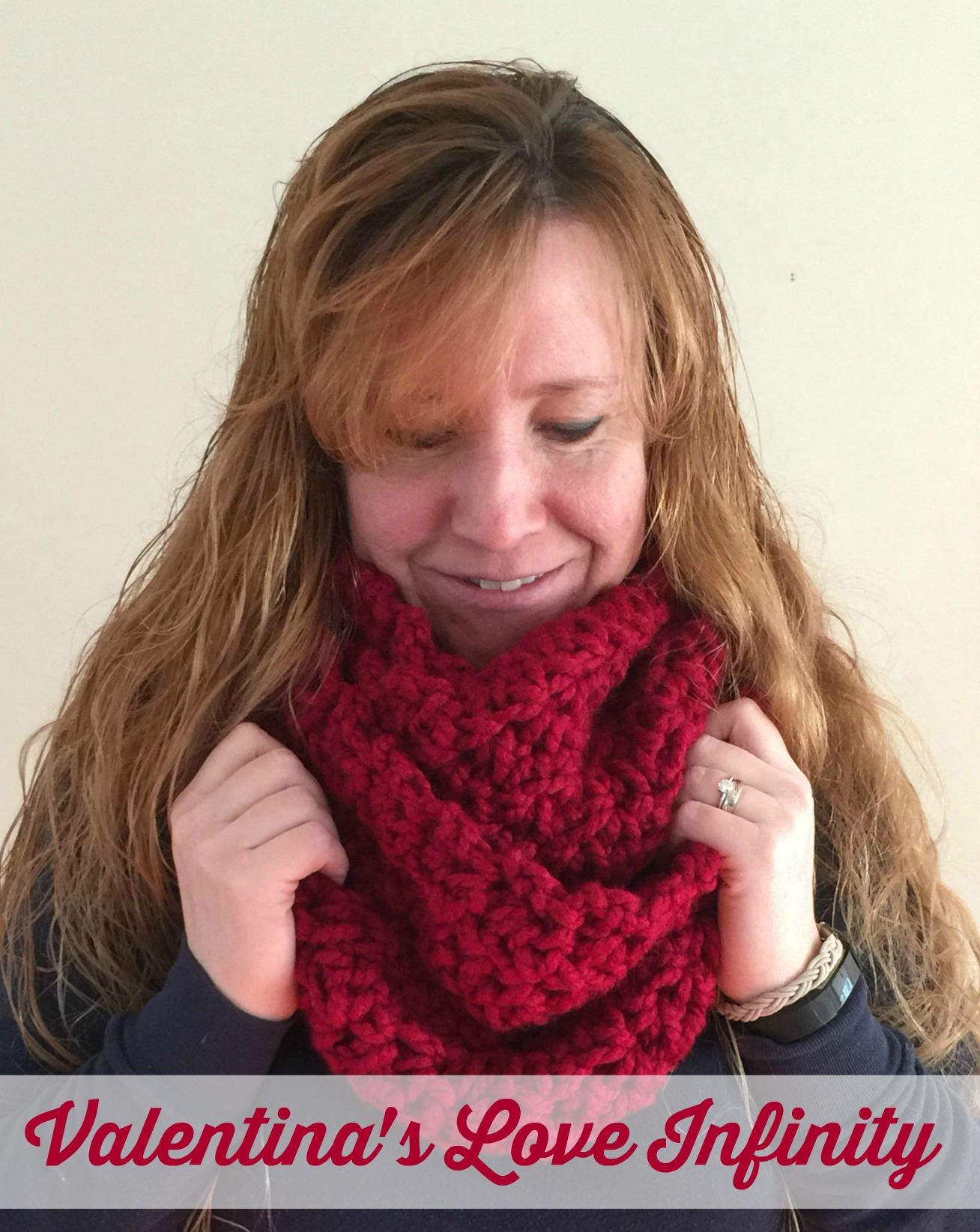 Free Infinity crochet pattern by Ambassador Crochet - Valentina's Love Infinity & cowl.