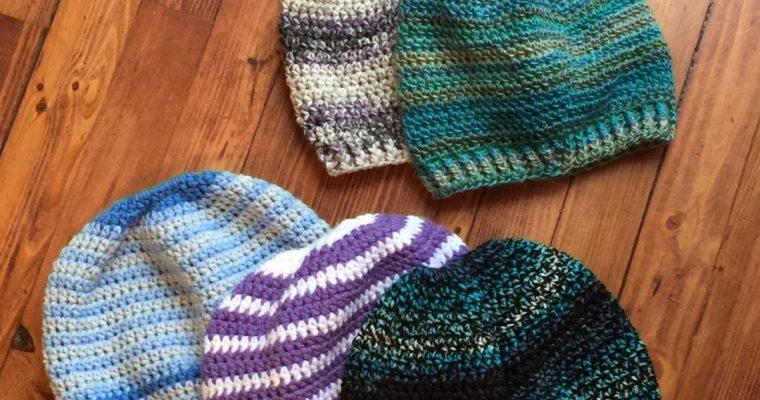 Beginner Messy Bun Hat Crochet Pattern