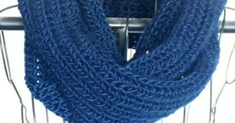 Indigo Falls Infinity Free Crochet Pattern