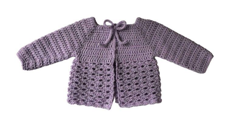 Black Raspberry Baby Sweater Free Crochet Pattern