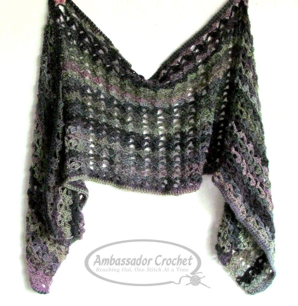 Majestic Ivy shawl pattern by Ambassador Crochet - $3.95